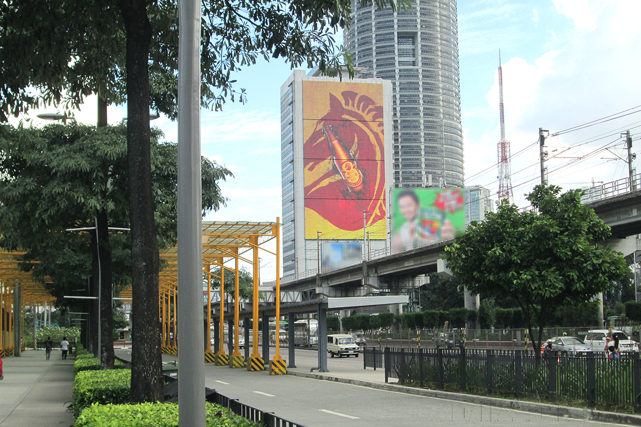 RED HORSE BEER IS THE NEWEST ADVERTISER AT THE NAPOLCOM MEGA WALL BILLBOARD
